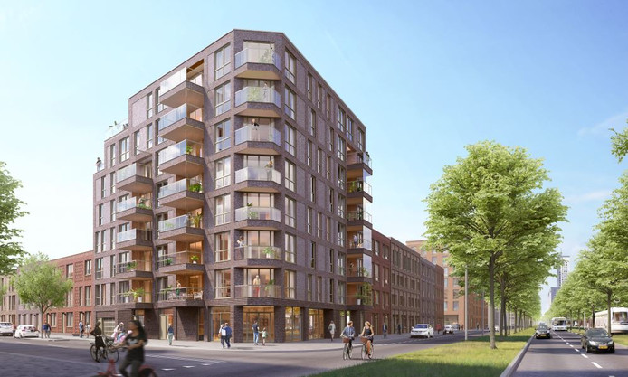 Remisehof op Kop van Zuid in Rotterdam