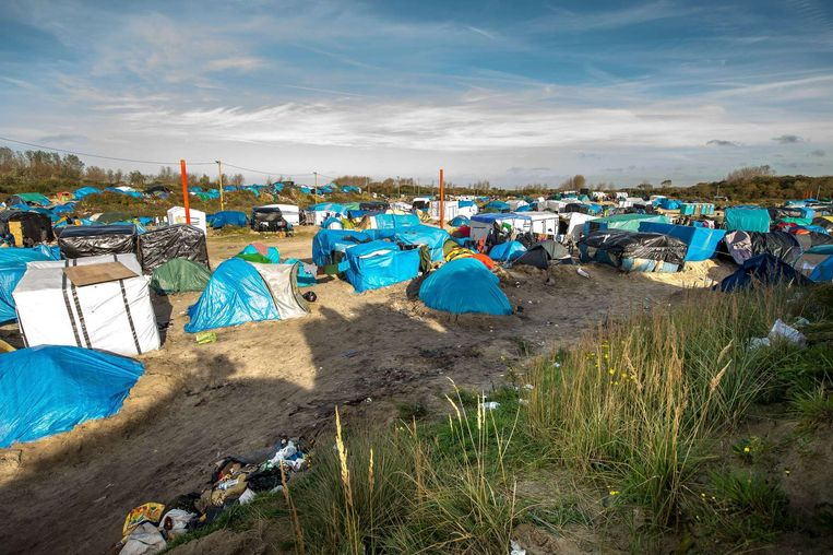 De 'Jungle' in Calais. Beeld afp