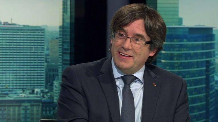 Carles Puigdemont in de studio van 'Terzake'.
