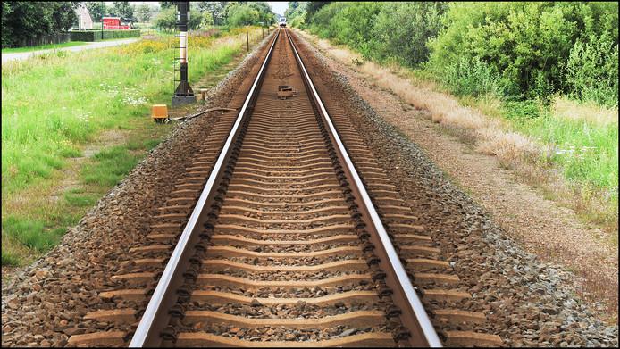 Het spoor bij Rijkevoort op archiefbeeld, foto ter illustratie.