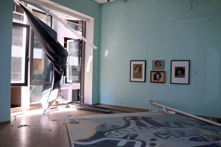Sursock Museum na ontploffing Beiroet. Beeld Sursock Museum / Rowina BouHarb
