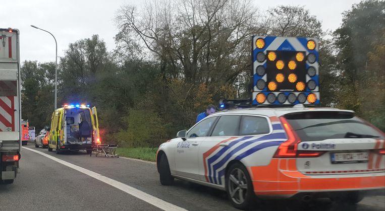 Het ongeval gebeurde op de afrit Mechelen-Zuid van de E19.