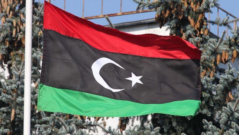 Archieffoto van de Libische vlag. © ANP Beeld