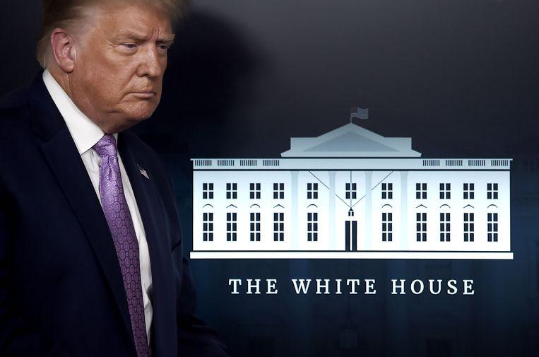 Beeld ter illustratie. De Amerikaanse president Donald Trump.