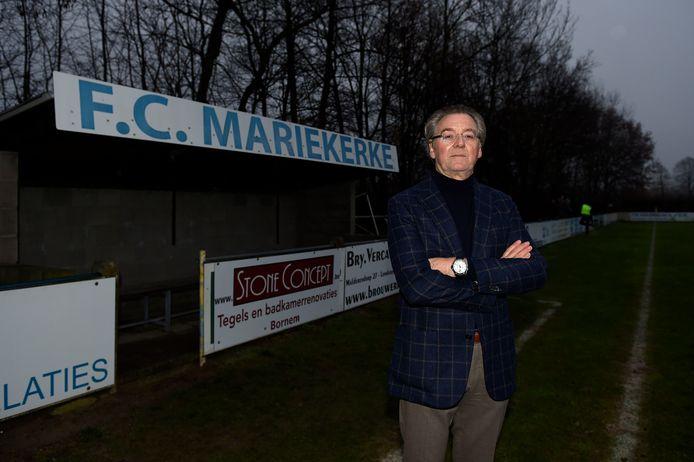 Harry Van Houteghem in 2015, toen hij nog voorzitter was van FC Mariekerke.