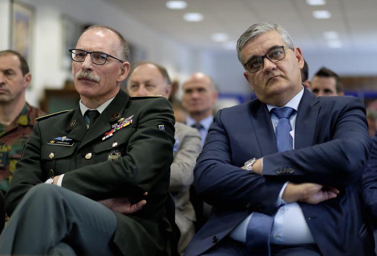 Marc Compernol en voormalig minister van Defensie Steven Vandeput (N-VA).