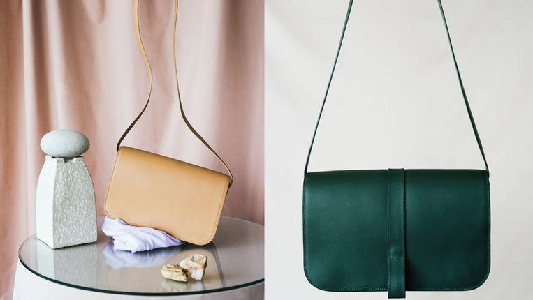 Twee handtassen van Lies Mertens.