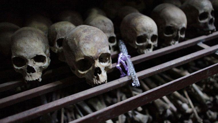 Resten van slachtoffers van de Rwandese genocide (AP) Beeld