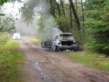 Brandende auto gevonden in buitengebied van Enschede
