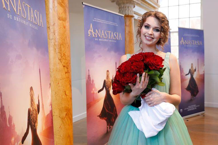 Tessa Sunniva van Tol tijdens de presentatie van de Broadway musical Anastasia in Scheveningen. Beeld ANP Kippa