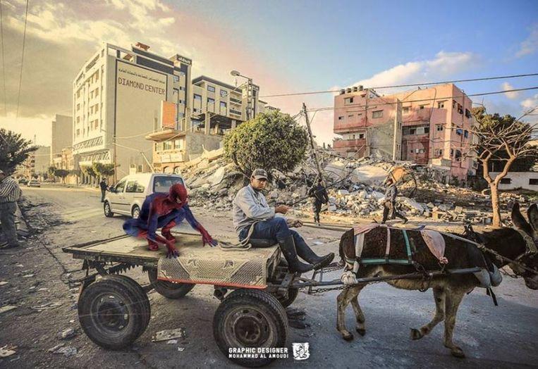 De grafische designer gebruikte zijn twee inspiratiebronnen met deze foto's als eindresultaat.