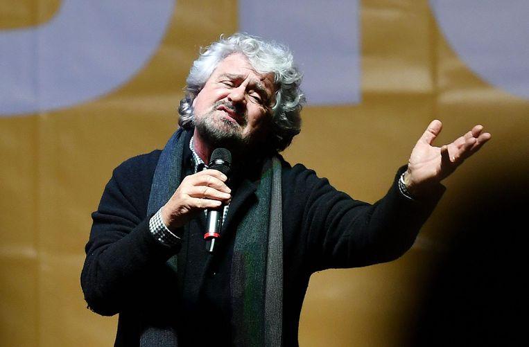 Beppe Grillo, leider van de Italiaanse Vijfsterrenbeweging.  Beeld EPA