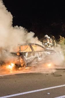 Recherche onderzoekt brand kentekenloze Audi in Harmelen