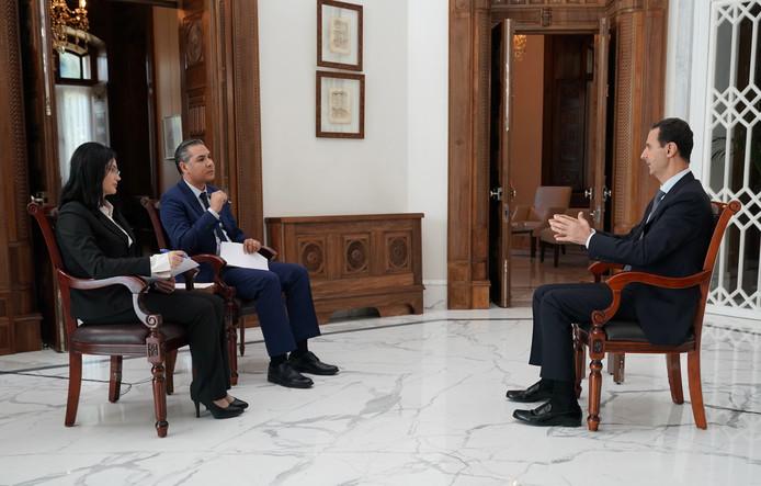 Bashar al-Assad tijdens het interview.