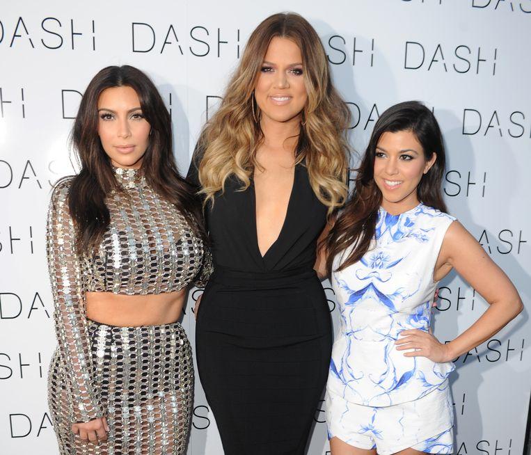 Kim, Khloé en Kourtney Kardashian.