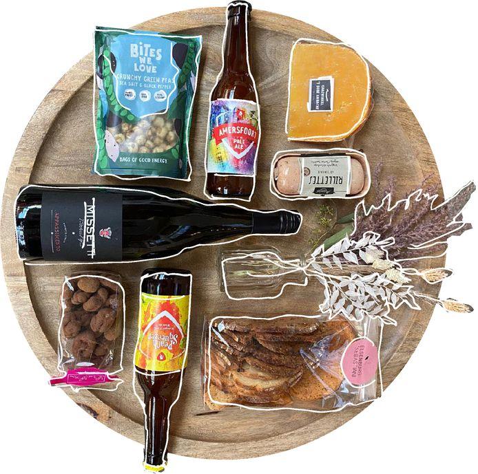 De acht producten uit het Keipakket.