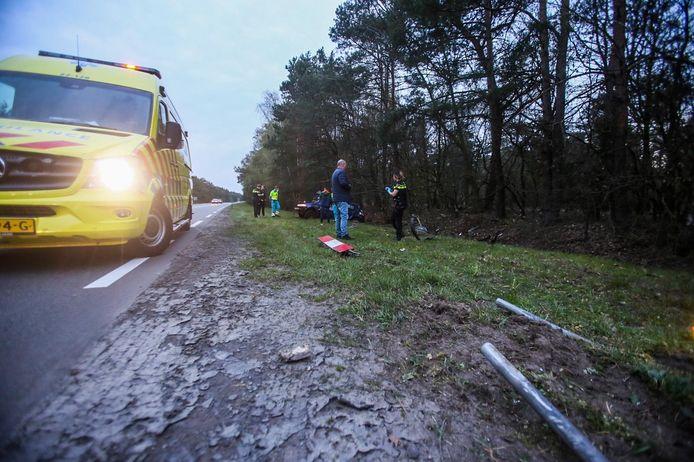 Het ongeval gebeurde op de Rijntjesdijk in Vlierden.