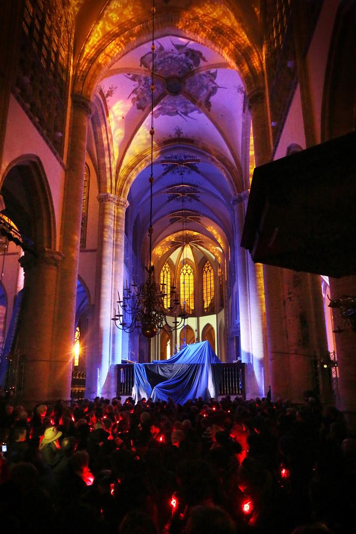 Optreden tijdens de Cultuurnacht in de Grote Kerk.
