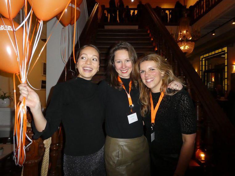 Simone Schuilwerve, Susanne Peters en Diane van Hesteren van De Issuemakers. Schuilwerve: 'Het was nog even spannend, want Arjen had eigenlijk vakantie.' Beeld Schuim