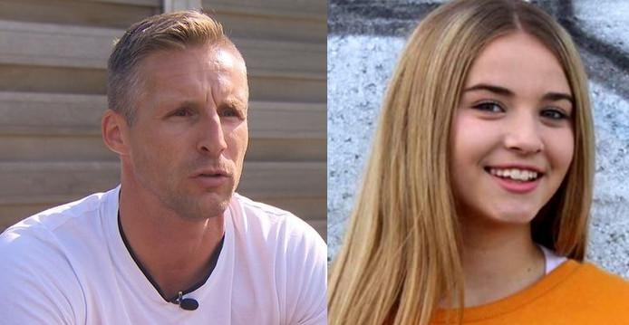 Christophe Hazaer, oom van het dodelijke slachtoffer en zijn nichtje Kayleigh.