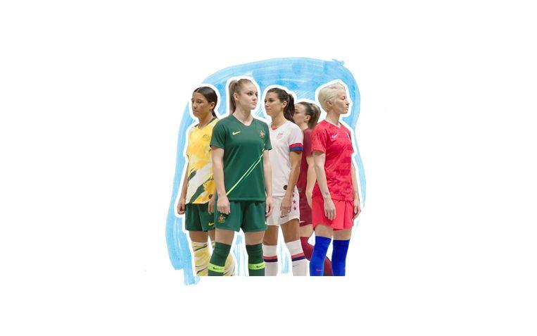 De nieuwe vrouwentenues van Nike. Beeld Foto: Nike, Bewerking: Studio V