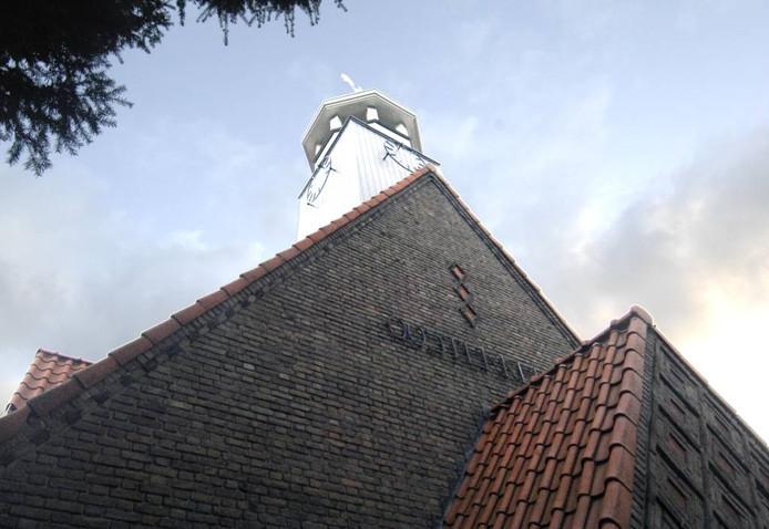 Ook de toren van de kerk is behouden en gerenoveerd