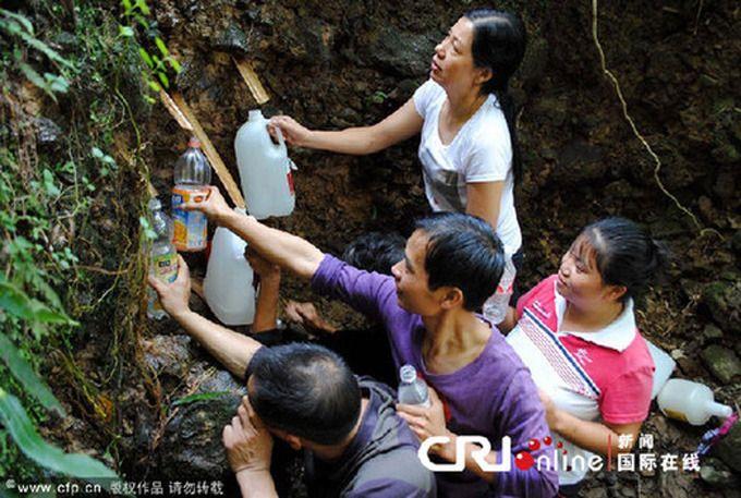 Het bronwater van Shicangxia had niet het gewenste heilzame effect.