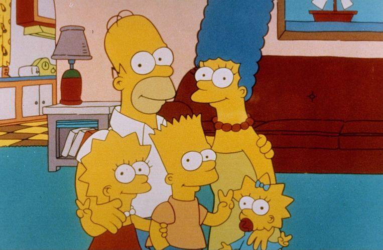 De cartoonserie 'The Simpsons' zal geen gebruik meer maken van witte acteurs voor personages van etnische minderheden. Beeld ANP Kippa
