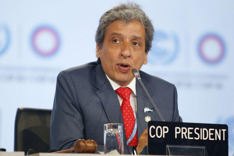 Peruviaans minister van Leefmilieu Manuel Pulgar-Vidal.