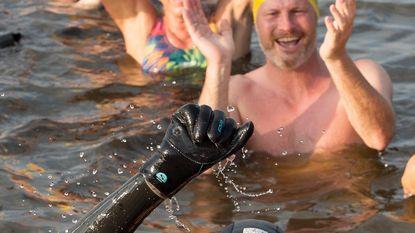 195 km gezwommen