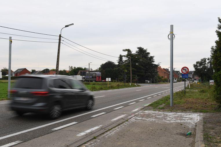 Op de Provincbiebaan tussen Rotselaar en Werchter werd de laatste trajectcontrole geïnstalleerd.