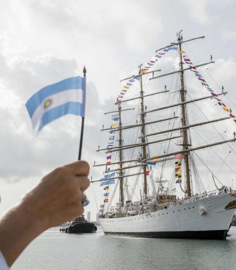 Opleidingsschip van Argentijnse marine bezoekt Antwerpen