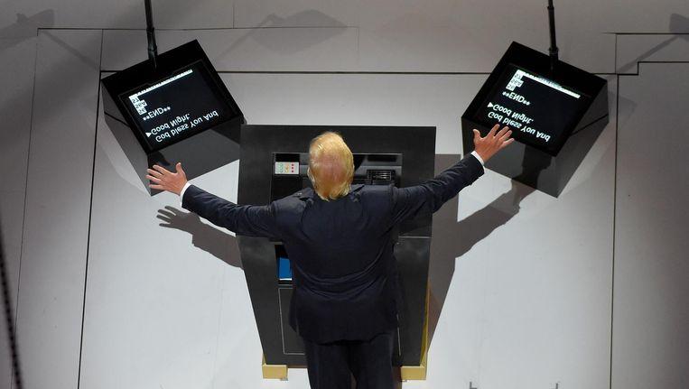Donald Trump tijdens de Republikeinse Conventie vorige maand. Beeld ap