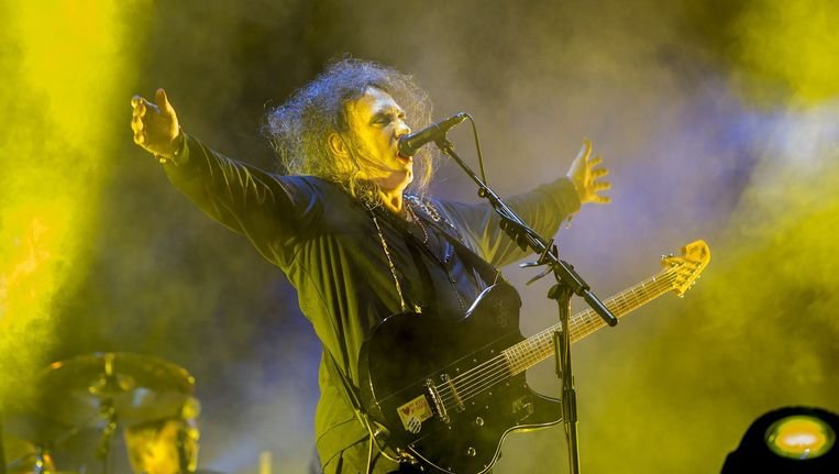 Robert Smith met The Cure in Mexico City, foto uit 2013.