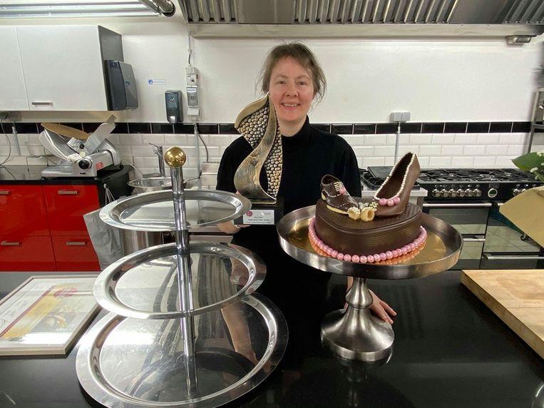 Sigrid Stroobants won met haar étagère dessertjes de award voor 'Beste Gerecht' van Het KookTalent Vlaanderen.