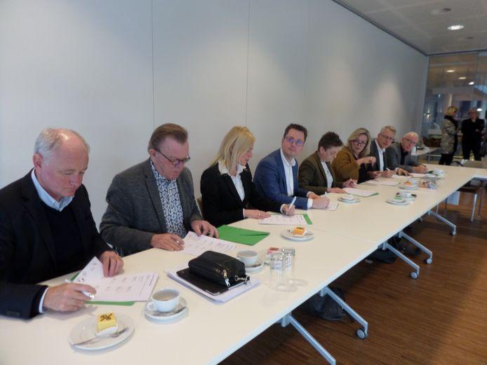 Het convenant wordt door de deelnemende partijen ondertekend.