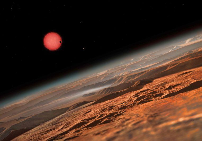 De wetenschappers konden hun metingen van omvang en massa van de planeten verfijnen om vast te stellen dat zij vooral uit gesteente bestaan, en dat bij sommigen tot vijf procent van hun massa uit water kan bestaan.