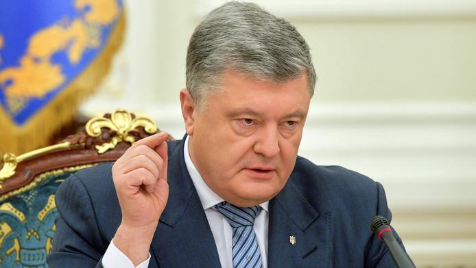 Le président Porochenko, mercredi, à Kiev