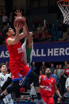 New Heroes-forward Stefan Wessels van de partij tegen Donar
