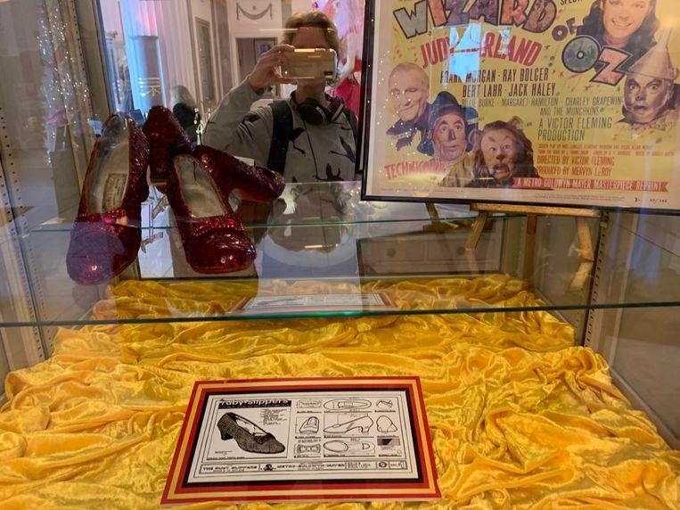 Floortje Smit in het Hollywood Museum. Beeld Privéfoto