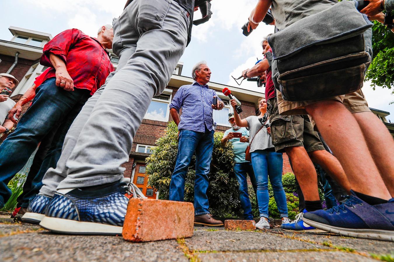 Stenen gegooid naar Pegida in Eindhoven.