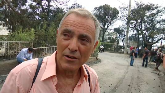 Nikos Stavrinidis werd uit zee gered door een vissersbootje.