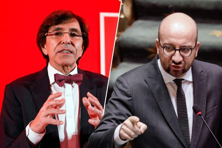 Elio Di Rupo (PS) en Charles Michel (MR). Archieffoto.