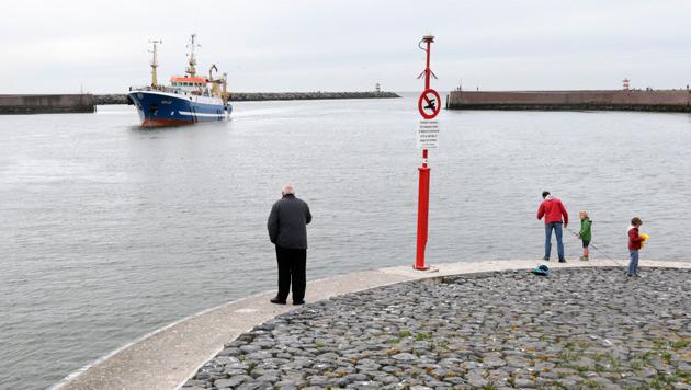 De haven van Scheveningen.