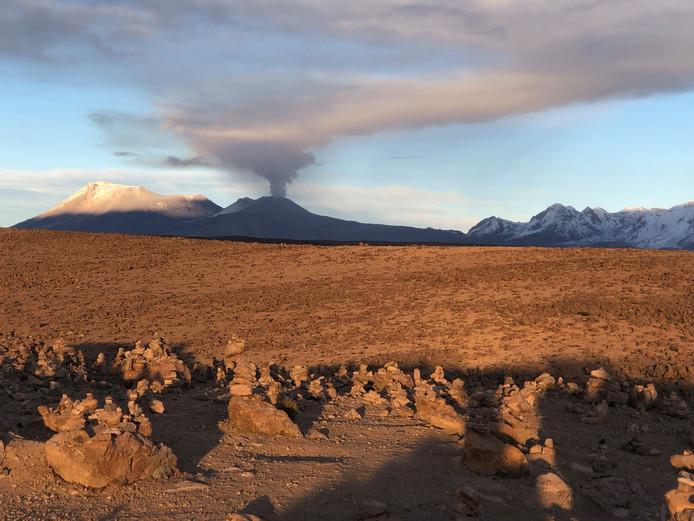 Een active vulkaan in het Andesgebergte. Foto ter illustratie.