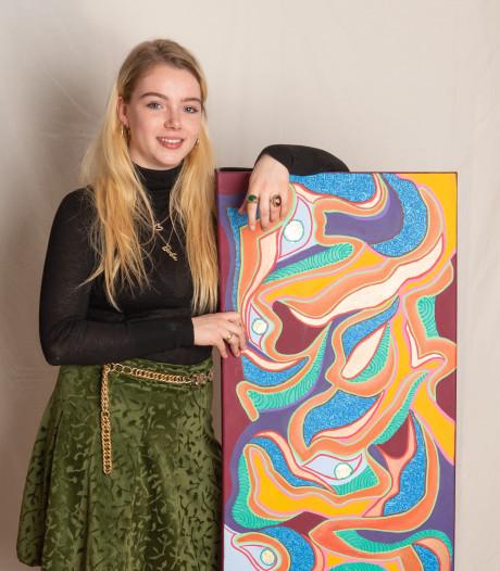 Ro (18) schildert op de grens én eroverheen: 'Kunst moet knallen'