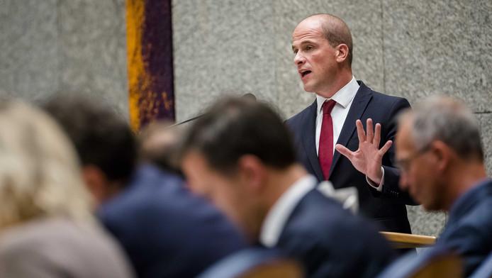 Diederik Samsom (Pvda) in de plenaire zaal tijdens de Algemene Politieke Beschouwingen