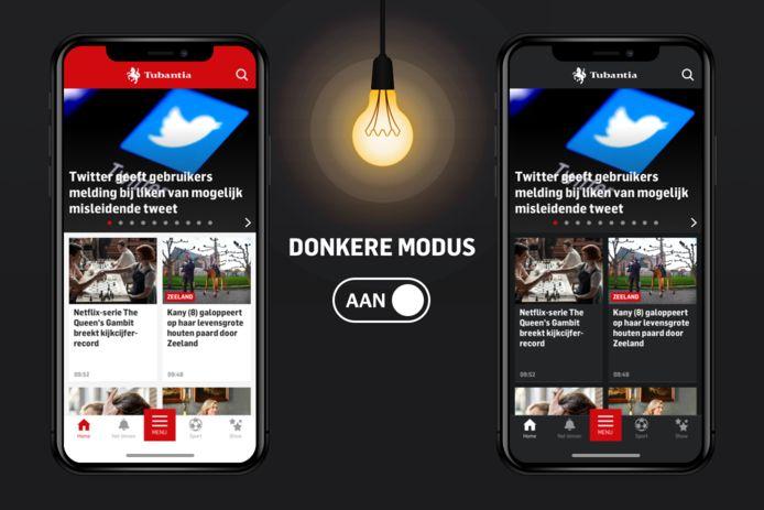 Hoe werkt het: de darkmodus van de Tubantia app