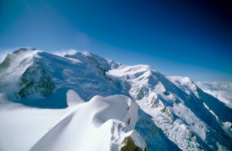 De top van de Mont Maudit, in de buurt van de Mont Blanc.