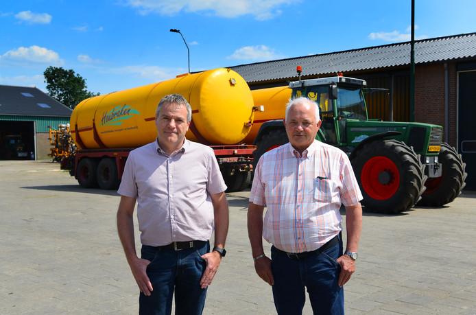 Eigenaar Wout Houbraken (rechts) en Henk van der Velden zijn trots op het bedrijf dat nu 50 jaar bestaat. Foto Nienke van de Kruijs